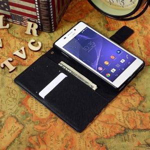 Standy peněženkové pouzdro Sony Xperia M2 Aqua - UK vlajka - 5