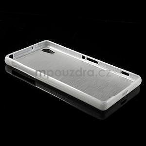Broušený gelový obal na Sony Xperia Z2 - bílý - 5