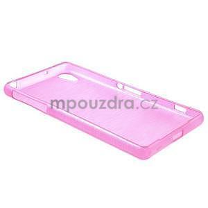 Broušený gelový obal na Sony Xperia Z2 - rose - 5
