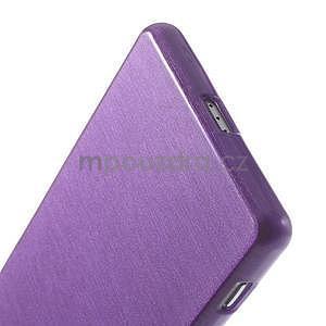 Broušený gelový obal na Sony Xperia Z2 - fialový - 5