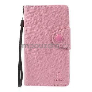 Růžové peněženkové pouzdro na Sony Xperia Z3 - 5