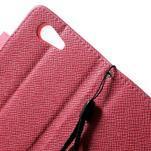 Rose peněženkové pouzdro na Sony Xperia Z3 Compact - 5/7