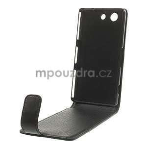 Černé flipové pouzdro na Sony Xperia Z3 Compact D5803 - 5