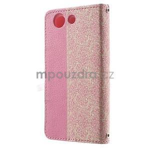 Zapinací pouzdro s mašličkou na Sony Xperia Z3 Compact - růžové - 5