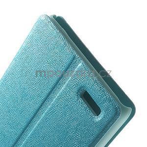 PU kožené pouzdro na Xiaomi Hongmi Note - světle modré - 5
