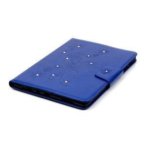 Butterfly PU kožené pouzdro na Samsung Galaxy Tab A 9.7 - modré - 5
