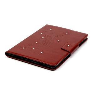 Butterfly PU kožené pouzdro na Samsung Galaxy Tab A 9.7 - hnědé - 5