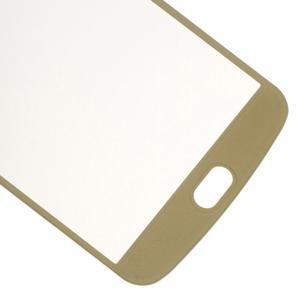 Celoplošné fixační tvrzené sklo na displej LG K10 - zlaté - 5