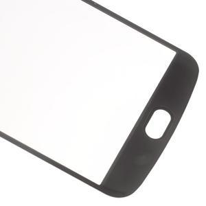 Celoplošné fixační tvrzené sklo na displej LG K10 - černé - 5
