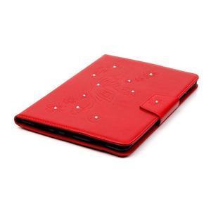 Butterfly PU kožené pouzdro na Samsung Galaxy Tab A 9.7 - červené - 5