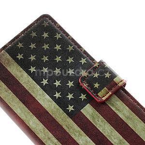 Peněženkové pouzdro na Huawei Ascend P6 - USA vlajka - 5