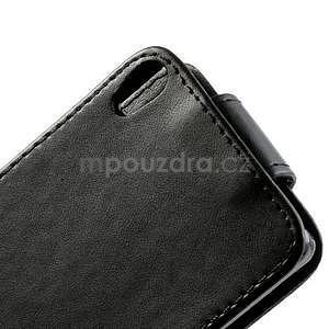 Flipové pouzdro na Huawei Ascend P6 - černé - 5