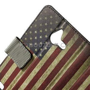 Peněženkové pouzdro na Huawei Ascend Y550 - USA vlajka - 5