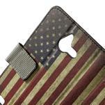 Peněženkové pouzdro na Huawei Ascend Y550 - USA vlajka - 5/7