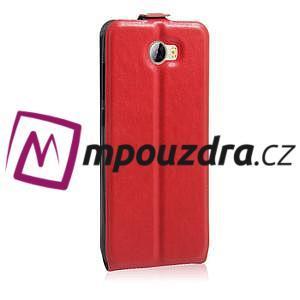 Flipové PU kožené pouzdro na Huawei Y5 II - červené - 5