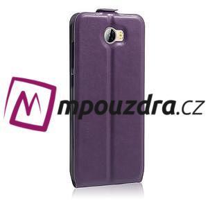 Flipové PU kožené pouzdro na Huawei Y5 II - fialové - 5