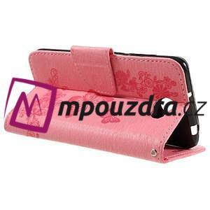 Butterfly PU kožené pouzdro na mobil Huawei Y5 II - růžové - 5
