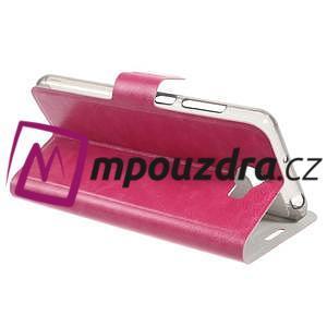 Horse PU kožené pouzdro na mobil Huawei Y5 II - rose - 5