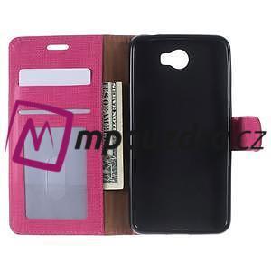 Clothy peněženkové pouzdro na Huawei Y5 II - rose - 5