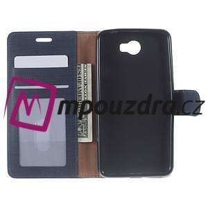 Clothy peněženkové pouzdro na Huawei Y5 II - tmavěmodré - 5