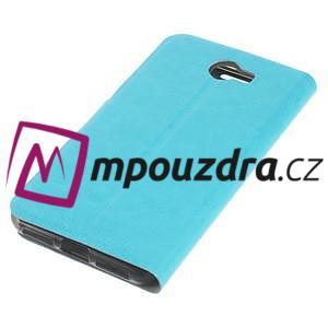 Horse PU kožené pouzdro na mobil Huawei Y5 II - modré - 5