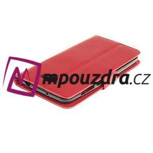 Dandelion PU kožené pouzdro na Huawei Y5 II - červené - 5