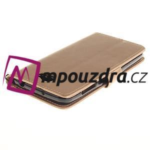 Dandelion PU kožené pouzdro na Huawei Y5 II - zlaté - 5