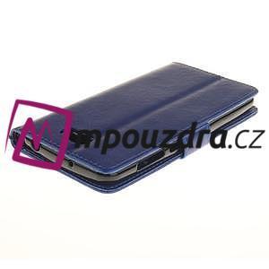 Dandelion PU kožené pouzdro na Huawei Y5 II - modré - 5