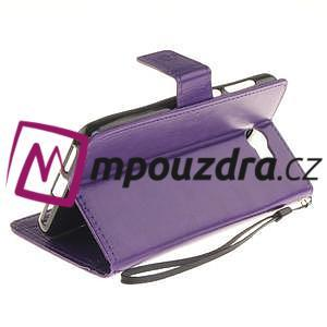 Dandelion PU kožené pouzdro na Huawei Y5 II - fialové - 5