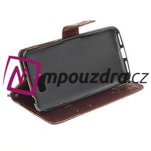 Dandelion PU kožené pouzdro na Huawei Y5 II - hnědé - 5