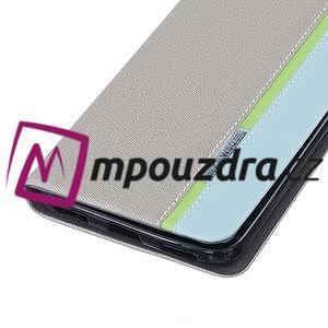 Klopové pouzdro na mobil Huawei Y6 II a Honor 5A - šedé - 5