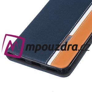Klopové pouzdro na mobil Huawei Y6 II a Honor 5A - tmavěmodré - 5
