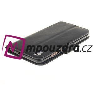 Dandelion PU kožené pouzdro na Huawei Y6 II a Honor 5A - černé - 5