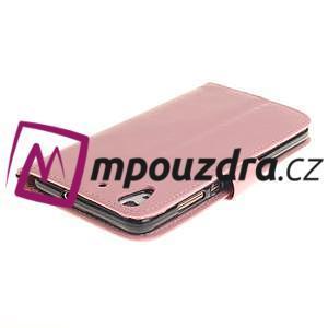 Dandelion PU kožené pouzdro na Huawei Y6 II a Honor 5A - růžové - 5