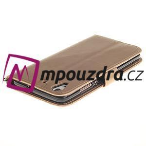 Dandelion PU kožené pouzdro na Huawei Y6 II a Honor 5A - zlaté - 5