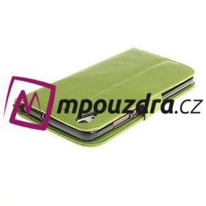 Dandelion PU kožené pouzdro na Huawei Y6 II a Honor 5A - zelené - 5