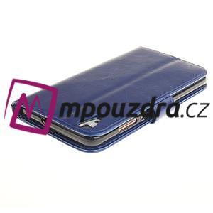 Dandelion PU kožené pouzdro na Huawei Y6 II a Honor 5A - modré - 5