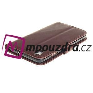 Dandelion PU kožené pouzdro na Huawei Y6 II a Honor 5A - hnědé - 5