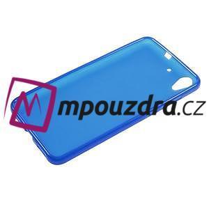 Matný gelový obal na Huawei Y6 II a Honor 5A - modrý - 5