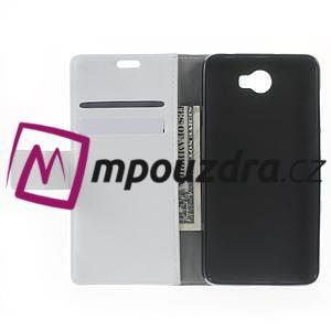 Horses PU kožené pouzdro na Huawei Y6 II Compact - bílé - 5
