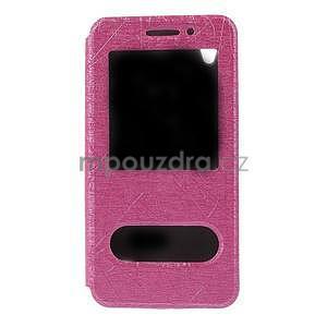 Pouzdro s okýnky na Huawei Ascend G620s - růžové - 5