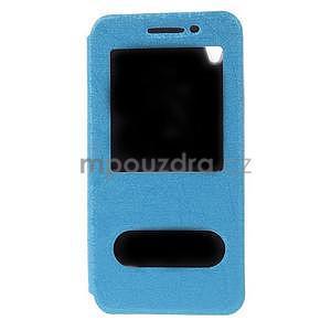 Pouzdro s okýnky na Huawei Ascend G620s - světle modré - 5