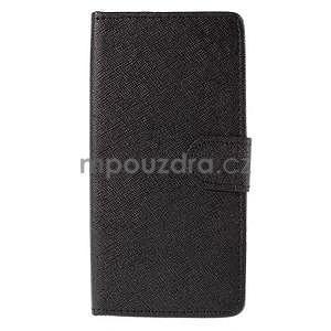 Peněženkové pouzdro na Huawei Ascend G620s - černé - 5