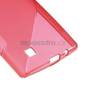 Červený gelový obal S-line na LG G4c H525n - 5