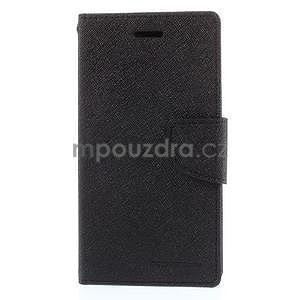 PU kožené peněženkové pouzdro na Nokia Lumia 830 - černé - 5