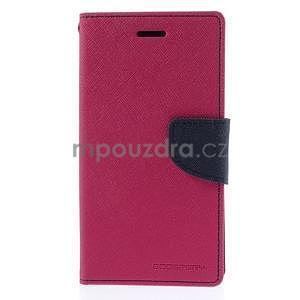 PU kožené peněženkové pouzdro na Nokia Lumia 830 - rose - 5