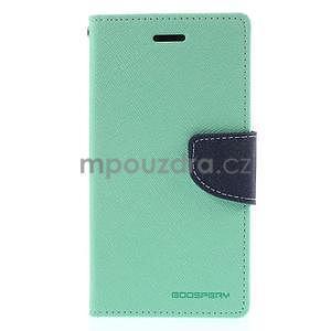 PU kožené peněženkové pouzdro na Nokia Lumia 830 - azurové - 5
