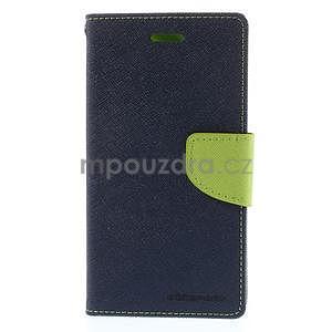 PU kožené peněženkové pouzdro na Nokia Lumia 830 - tmavě modré - 5