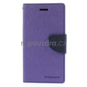 PU kožené peněženkové pouzdro na Nokia Lumia 830 - fialové - 5