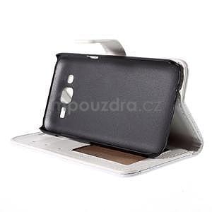 PU kožené pouzdro s imitací krokodýlí kůže Samsung Galaxy J5 - bílé - 5